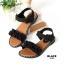 รองเท้าแตะแฟชั่น แบบสวม รัดส้น แต่งระบายสวยหวานน่ารักสไตล์เกาหลี หนังนิ่ม ทรงสวย ใส่สบาย แมทสวยได้ทุกชุด (MK201) thumbnail 2