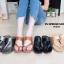 รองเท้าแฟชั่น ส้นเตารีด แบบสวมสวยเรียบเก๋ ทรงสวย หนังนิ่ม ใส่สบาย แมทสวยได้ทุกชุด (PU6114) thumbnail 2