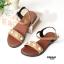 รองเท้าแตะแฟชั่น แบบสวม รัดส้น แต่งมุกและหมุดสวยหวานน่ารักสไตล์เกาหลี หนังนิ่ม ทรงสวย ใส่สบาย แมทสวยได้ทุกชุด (MK180) thumbnail 3
