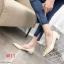 รองเท้าคัทชู ส้นเตี้ย ทรงหัวแหลมแต่งอะไหล่เรียบหรู ส้นเหลียมสวยเก๋ ทรงสวย หนังนิ่ม ใส่สบาย แมทสวยได้ทุกชุด (K9353) thumbnail 4