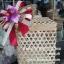 ปิ่นโตไม้ไผ่ทรงสี่เหลี่ยม ปิ่นโตชะลอมสี่เหลี่ยม thumbnail 2