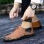 พรีออเดอร์ รองเท้า เบอร์ 38- 47 แฟชั่นเกาหลีสำหรับผู้ชายไซส์ใหญ่ เก๋ เท่ห์ - Preorder Large Size Men Korean Hitz Sandal thumbnail 5