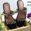 รองเท้าแตะแฟชั่น แบบสวม แต่งโซ่สวยเรียบเก๋สไตล์แบรนด์ ทรงสวยหนังนิ่ม ใส่สบาย แมทสวยได้ทุกชุด (SP612) thumbnail 1
