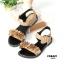 รองเท้าแตะแฟชั่น แบบสวม รัดส้น แต่งดอกไม้สวยหวานน่ารักสไตล์เกาหลี หนังนิ่ม ทรงสวย ใส่สบาย แมทสวยได้ทุกชุด (MK200) thumbnail 3