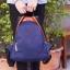 Back pack(กระเป๋าเป้ แฟชั่น สะพายหลัง) BA085 สีน้ำเงิน พร้อมส่ง thumbnail 15