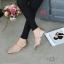 รองเท้าคัทชู ส้นเตี้ย คาดกลางเพิ่มความกระชับ ส้นแต่งกลิสเตอร์สีรุ่งสวยหรู หนังนิ่ม ทรงสวย ใส่สบาย แมทสวยได้ทุกชุด (G711318) thumbnail 3