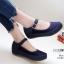 รองเท้าคัทชู ส้นมัฟฟิน สวยน่ารักมาก สายคาดหน้าเมจิกเทปใส่ง่าย หนังนิ่ม พื้นนิ่ม งานสวย สูง 1 นิ้ว ใส่สบาย แมทสวยได้ทุกชุด (10109) thumbnail 1