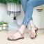 รองเท้าแตะแฟชั่น แบบสวม รัดส้น แต่งมุกและหมุดสวยหวานน่ารักสไตล์เกาหลี หนังนิ่ม ทรงสวย ใส่สบาย แมทสวยได้ทุกชุด (MK180) thumbnail 2