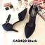 รองเท้าคัทชู รัดส้น ส้นเตี้ย หนังกลิสเตอร์แต่งลายฉลุสวยหรู หนังนิ่ม ทรงสวย ใส่สบาย ส้นสูงประมาณ 2.5 นิ้ว แมทสวยได้ทุกชุด (CA9498) thumbnail 1