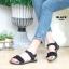รองเท้าแตะแฟชั่น แบบสวม รัดส้น แต่งระบายสวยหวานน่ารักสไตล์เกาหลี หนังนิ่ม ทรงสวย ใส่สบาย แมทสวยได้ทุกชุด (MK201) thumbnail 3