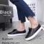 รองเท้าคัทชู ทรงผ้าใบ หนังฉลุลายน่ารัก แต่งเชือกผูกสไตล์วินเทจที่ยังคงความคลาสสิค ส้นยางกันลื่นหนา 0.5 ซม. ใส่สบาย แมทสวยได้ทุกชุด (345-106) thumbnail 5