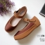 รองเท้าคัทชู ส้นมัฟฟิน สวยน่ารักมาก สายคาดหน้าเมจิกเทปใส่ง่าย หนังนิ่ม พื้นนิ่ม งานสวย สูง 1 นิ้ว ใส่สบาย แมทสวยได้ทุกชุด (10109) thumbnail 2