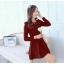 [พรีออเดอร์] ชุดเดรสผู้หญิงแฟชั่นเกาหลีใหม่ แขนยาว แบบเก๋ เท่ห์ - [Preorder] New Korean Fashion Slim Sexy Hollow Long-sleeved Dress thumbnail 3