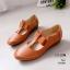 รองเท้าคัทชู ส้นเตี้ย แต่งตะเข็บสวยเรียบเก๋สไตล์วินเทจ คาดหน้ายางยืดนิ่ม ใส่สบาย ส้นสูง 1 นิ้ว แมทสวยได้ทุกชุด (10104) thumbnail 3
