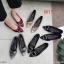 รองเท้าคัทชู ส้นเตี้ย แต่งอะไหล่สวยหรู ทรงสวย หนังนิ่ม ส้นเคลือบเงาสวยเก๋ สูงประมาณ 1 น้ิ้ว ใส่สบาย แมทสวยได้ทุกชุด (K9339) thumbnail 3