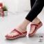 รองเท้าแตะแฟชั่น แบบหนีบ ตัดสีขอบสวยเรียบเก๋ หนังนิ่ม พื้นนิ่มรองรับรูปเท้าเพื่อสุขภาพ งานสวย ใส่สบาย แมทสวยได้ทุกชุด (6065) thumbnail 1
