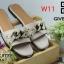 รองเท้าแตะแฟชั่น แบบสวม แต่งโซ่สวยเก๋สไตล์จีวองชี หนังนิ่ม พื้นนิ่ม วัสดุอย่างดี งานสวย ใส่สบาย แมทสวยได้ทุกชุด (GV4134) thumbnail 2