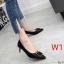 รองเท้าคัทชู ส้นเตี้ย แต่งอะไหล่สวยหรู ทรงสวย หนังนิ่ม งานสวย ส้นสูงประมาณ 2.5 น้ิ้ว ใส่สบาย แมทสวยได้ทุกชุด (K9352) thumbnail 1