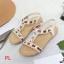 รองเท้าแตะแฟชั่น รัดส้น แบบสวม แต่งอะไหล่สวยหรู พื้นนิ่ม รัดส้นยางยืดนิ่มกระชับเท้า ทรงสวย ใส่สบาย แมทสวยได้ทุกชุด thumbnail 2