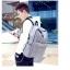 Back pack(กระเป๋าเป้ สะพายหลัง) BA081 สีเทา พร้อมส่ง thumbnail 16