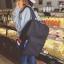Back pack(กระเป๋าเป้ สะพายหลัง) BA080 สีดำ พร้อมส่ง thumbnail 1