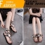 รองเท้าแตะแฟชั่น รัดข้อ งานนำเข้า summer collection สุดเก๋ รองเท้าเล่นน้ำสงกรานต์ หรือเที่ยวทะเล ต้องไม่พลาด ซิลิโคนยาง แบบใหม่ล่าสุด สไตล์ jelly shoes ซิลิโคนนิ่มแบบหูคีบผูกผ้าได้ตามสไตล์ พื้นยางกันลื่น ทนแดดทนฝน สวยแบบไม่กลัวเปียก สีดำ เทา แมทสวยได้ทุกช thumbnail 5