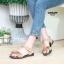 รองเท้าแตะแฟชั่น แบบสวม รัดส้น แต่งดอกไม้สวยหวานน่ารักสไตล์เกาหลี หนังนิ่ม ทรงสวย ใส่สบาย แมทสวยได้ทุกชุด (MK200) thumbnail 2