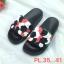 รองเท้าแตะแฟชั่น แบบสวม แต่งลายกุหลาบสวยหวาน พื้นยางนิ่มอย่างดี ใส่สบาย แมทสวยได้ทุกชุด thumbnail 1