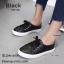 รองเท้าคัทชู ทรงผ้าใบ หนังฉลุลายน่ารัก แต่งเชือกผูกสไตล์วินเทจที่ยังคงความคลาสสิค ส้นยางกันลื่นหนา 0.5 ซม. ใส่สบาย แมทสวยได้ทุกชุด (345-106) thumbnail 1