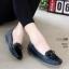 รองเท้าคัทชู ทรง loafer ส้นเตารีด แต่งโบว์สวยน่ารัก หนังนิ่ม พื้นนิ่ม งานสวย ใส่สบาย ส้นสูง 2 นิ้ว แมทสวยได้ทุกชุด (A04) thumbnail 1
