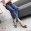 รองเท้าคัทชู ส้นเตี้ย แต่งอะไหล่สวยหรู ทรงสวย หนังนิ่ม งานสวย ส้นสูงประมาณ 2.5 น้ิ้ว ใส่สบาย แมทสวยได้ทุกชุด (K9352) thumbnail 4