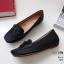 รองเท้าคัทชู ทรง loafer ส้นเตารีด แต่งโบว์สวยน่ารัก หนังนิ่ม พื้นนิ่ม งานสวย ใส่สบาย ส้นสูง 2 นิ้ว แมทสวยได้ทุกชุด (A04) thumbnail 5