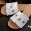 รองเท้าแตะแฟชั่น สไตล์กุชชี่ ผ้ายีนส์ ชายลุ่ย ติดอะไหล่ผึ้ง ประดับด้วยคริสตัล เม็ดเล็กๆ แบบสวยชนช็อป งานดี ทรงสวย ใส่สบาย แมทสวยได้ทุกชุด (7020-18) thumbnail 3