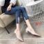 รองเท้าคัทชู ส้นเตี้ย ทรงหัวแหลมแต่งอะไหล่เรียบหรู ส้นเหลียมสวยเก๋ ทรงสวย หนังนิ่ม ใส่สบาย แมทสวยได้ทุกชุด (K9353) thumbnail 2