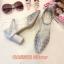 รองเท้าคัทชู รัดส้น ส้นเตี้ย แต่งลายฉลุสวยหรู หนังนิ่ม ทรงสวย ใส่สบาย ส้นสูงประมาณ 2.5 นิ้ว แมทสวยได้ทุกชุด (CA9502) thumbnail 1