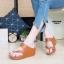 รองเท้าแฟชั่น ส้นเตารีด แบบสวมสวยเรียบเก๋ ทรงสวย หนังนิ่ม ใส่สบาย แมทสวยได้ทุกชุด (PU6114) thumbnail 1