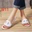 รองเท้าแตะแฟชั่น แบบสวม คาดหน้าสไตล์แอร์เมสสวยเรียบเก๋ หนังนิ่ม พื้นนิ่ม งานสวย ใส่สบาย แมทสวยได้ทุกชุด (DD22) thumbnail 1
