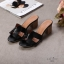 รองเท้าแฟชั่น ส้นสูง แบบสวม หน้า H สไตล์แอร์เมส ส้นลายไม้สวยเรียบหรู ทรงสวย หนังนิ่ม ใส่สบาย ส้นสูงประมาณ 2.5 นิ้ว แมทสวยได้ทุกชุด (H2201) thumbnail 3