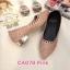รองเท้าคัทชู ส้นเตี้ย แต่งลายฉลุประดับคลิสตัลรอบตัวสวยหรู ส้นเคลือบเงาสวยดูดี หนังนิ่ม ทรงสวย ใส่สบาย ส้นสูงประมาณ 1 นิ้ว แมทสวยได้ทุกชุด (CA078) thumbnail 1