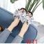 รองเท้าแตะแฟชั่น แบบสวม แต่งโบว์ซาตินใหญ่ติดเพชรคริสตัลสวยหรู หนังนิ่ม งานสวย ใส่สบาย แมทสวยได้ทุกชุด thumbnail 2