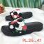 รองเท้าแตะแฟชั่น แบบสวม แต่งลายกุหลาบสวยหวาน พื้นยางนิ่มอย่างดี ใส่สบาย แมทสวยได้ทุกชุด thumbnail 2