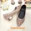 รองเท้าคัทชู ส้นเตี้ย แต่งลายฉลุประดับคลิสตัลรอบตัวสวยหรู ส้นเคลือบเงาสวยดูดี หนังนิ่ม ทรงสวย ใส่สบาย ส้นสูงประมาณ 1 นิ้ว แมทสวยได้ทุกชุด (CA079) thumbnail 1