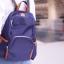 Back pack(กระเป๋าเป้ แฟชั่น สะพายหลัง) BA085 สีน้ำเงิน พร้อมส่ง thumbnail 6