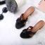 รองเท้าแฟชั่น ส้นสูง แบบสวม หน้า H สไตล์แอร์เมส ส้นลายไม้สวยเรียบหรู ทรงสวย หนังนิ่ม ใส่สบาย ส้นสูงประมาณ 2.5 นิ้ว แมทสวยได้ทุกชุด (H2201) thumbnail 2