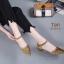 รองเท้าคัทชู รัดส้น เปิดข้าง แต่งลายฉลุสวยเก๋ หนังนิ่ม ทรงสวย ใส่สบาย ส้นสูงประมาณ 1.5 นิ้ว แมทสวยได้ทุกชุด (B3124-6) thumbnail 2
