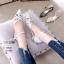 รองเท้าคัทชู ส้นเตี้ย รัดส้น หนังกลิสเตอร์วิ้งแต่งลายฉลุประดับคลิสตัลสวยหรูดูดี หนังนิ่ม ส้นแต่งขอบทอง งานสวย สูง 1 CM ใส่สบาย แมทสวยได้ทุกชุด (10105) thumbnail 1