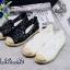 รองเท้าคัทชู ทรง slip on ซีทรูแต่งดอกไม้สวยน่ารัก ส้นแต่งเชือกถัก ทรงสวย ใส่สบาย แมทสวยได้ทุกชุด thumbnail 2