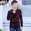 พรีออเดอร์ เสื้อกันหนาว แฟชั่นเกาหลีสำหรับผู้ชายไซส์ใหญ่ อกใหญ่สุด 57.48 นิ้ว แขนยาว เก๋ เท่ห์ - Preorder Large Size Men Korean Hitz Long-sleeved Jacket thumbnail 4