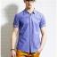 พรีออเดอร์ เสื้อเชิ้ตแฟชั่นอเมริกา และยุโรปสไตล์ สำหรับผู้ชาย แขนสั้น เก๋ เท่ห์ - Preorder Men American and European Hitz Style Slim Short-sleeved Shirt thumbnail 1