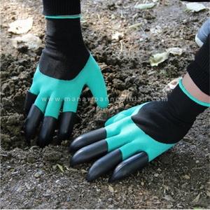 ถุงมือขุดดินทำสวน ถุงมืออเนกประสงค์สำหรับปลูกต้นไม้และขุดดิน Garden Genie Gloves